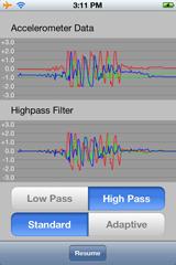 Apple's AccelerometerGraph App